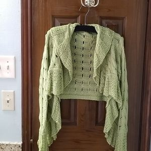 Lime crochet sweater